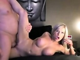 Busty blonde with a divine ass gets pounded deep and hard o