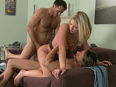 Hot Lucy cant feel her wet holes